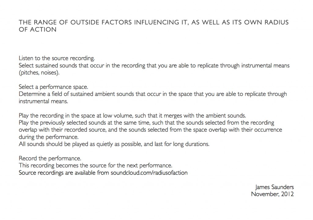 the range of outside factors influencing it, as well as its own radius of action