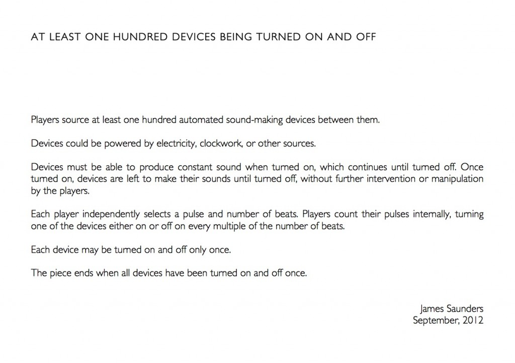 AT LEAST ONE HUNDRED DEVICES BEING TURNED ON AND OFF