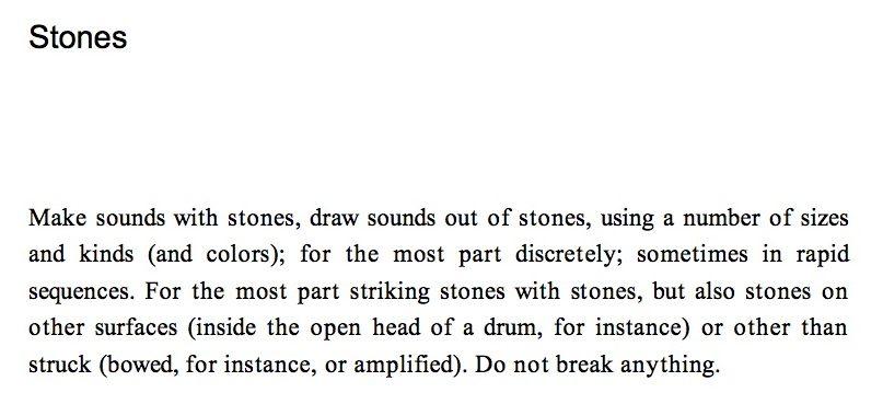 Christian Wolff - Stones