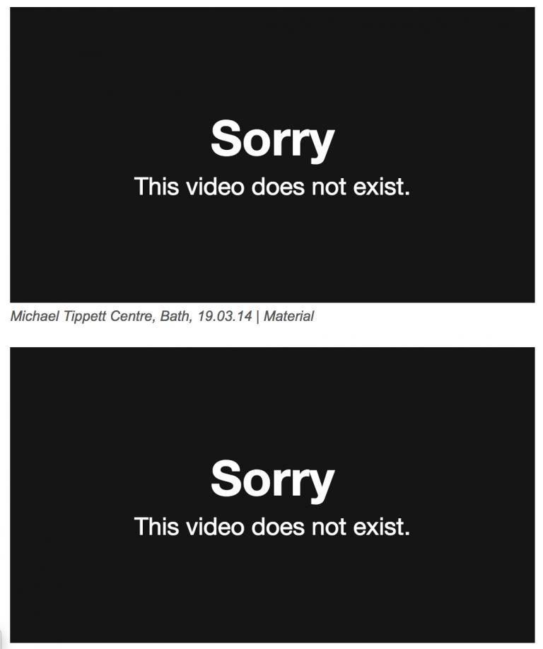 no videos, again