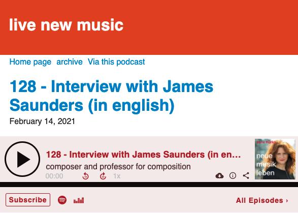 interview for neue musik leben